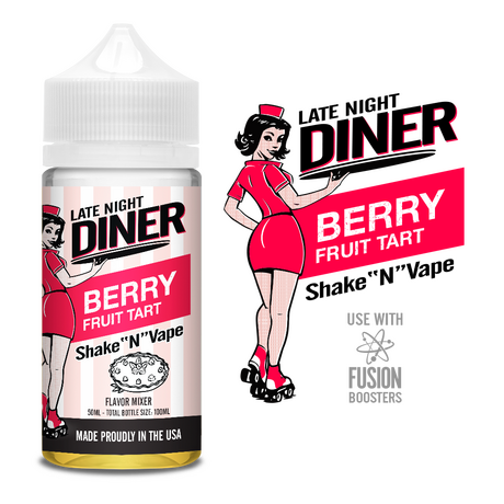 Late Night Diner Berry Fruit Tart 50ml 0mg